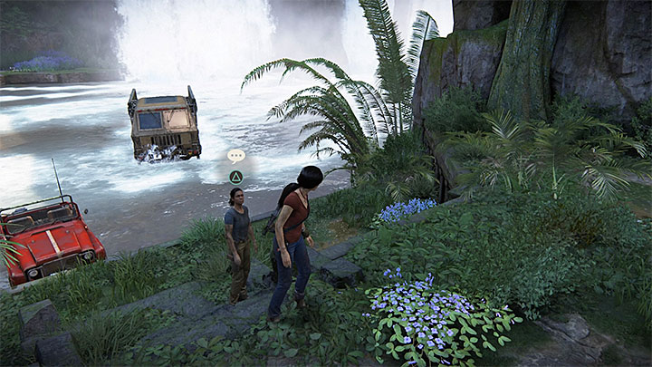 You can have another conversation with Nadine when you reach near Ganesha fort located south-east - 4 - Photos, optional conversations and lockboxes in Wester Ghats | Secrets - Secrets - Uncharted: The Lost Legacy Game Guide