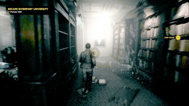 A library of the university. - Chronon Sources (act IV and V) - Secrets - Quantum Break - Game Guide and Walkthrough