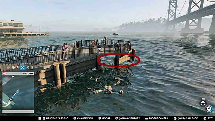 This point is under a small pier - Research points - locations 62-112 - Collectibles - Watch Dogs 2 Game Guide