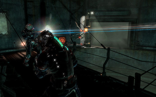 In the next room youll find an elevator, which will take you up to the tunnel with a cargo elevator - Investigate Carvers vision   Co-op missions: Marker Containment - Co-op missions: Marker Containment - Dead Space 3 Game Guide