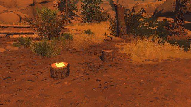 Еще одна заметка находится на пне, в том месте, где вы найдете топор, застрявший в дереве - Заметки - Коллекционирование - Огненные часы - Руководство по игре и прохождение игры