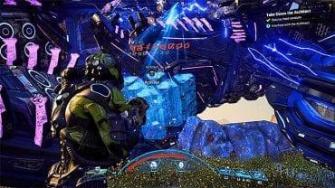 Беги к упавшей голове босса - Как победить Остатка Архитектора на Кадаре?     Босс борется    Прохождение - Битвы с боссами - Mass Effect: Руководство по игре Andromeda