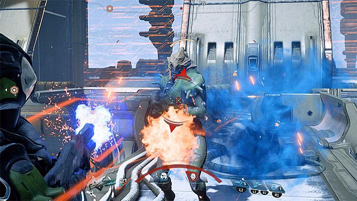 Вовлеките подкрепление, как только оно появится - Как победить кардинала Воэльда Кетта?  |  Босс борется |  Прохождение - Битвы с боссами - Mass Effect: Руководство по игре Andromeda