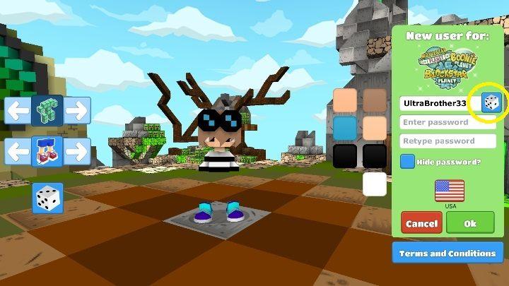 После создания персонажа выберите его или ее имя - Шаг 2 - Создание персонажа в BlockStarPlanet - 10 шагов к началу - Руководство по BlockStarPlanet
