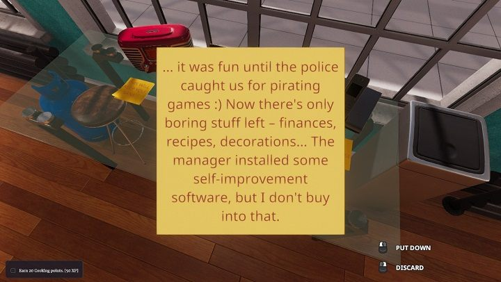If you click yes in the window welcoming you in the introductory part of the game, you will land in a rather dilapidated kitchen - the young manager who just hired us will say that we need to fix the mess left by the predecessor, and get the kitchen back to working condition - Starting a career - how to begin   Cooking Simulator - Career - Cooking Simulator Guide