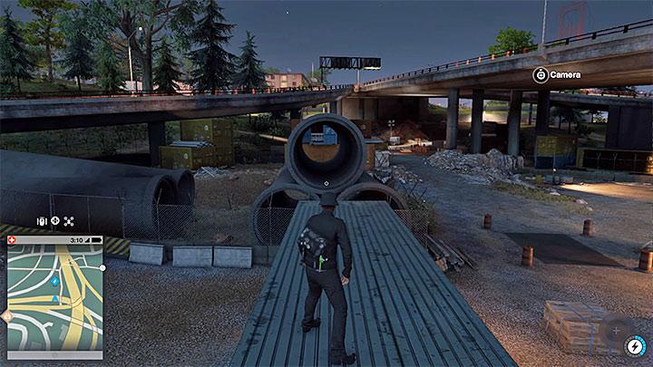 Эта работа покраски находится в синем контейнере рядом с шоссе, и вы не можете попасть туда с Маркусом - Работы по покраске, одежда и уникальные транспортные средства - Коллекционирование - Руководство по игре Watch Dogs 2