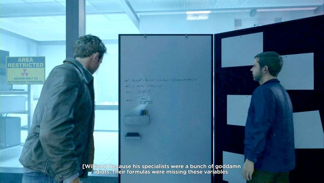 A board filled with equations is one of the Quantum Ripples - let Willow correct it. - Quantum Ripples - Secrets - Quantum Break - Game Guide and Walkthrough
