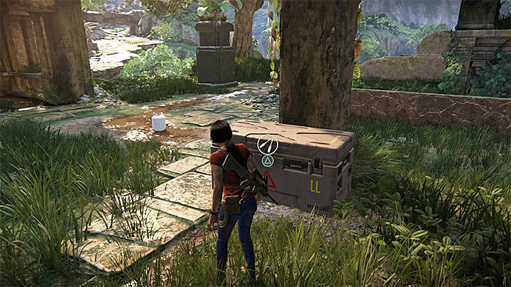 The lockbox is located in small ruins in the south-west part of the map, the ones in which you can also find one of Hoysala tokens - 4 - Photos, optional conversations and lockboxes in Wester Ghats | Secrets - Secrets - Uncharted: The Lost Legacy Game Guide