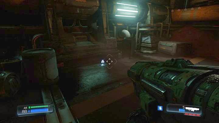 Пройдя влево от первого Rune Trial, вы попадете в небольшую комнату - Argent Facility |  Секреты - Секреты - Руководство по игре в Doom и прохождение
