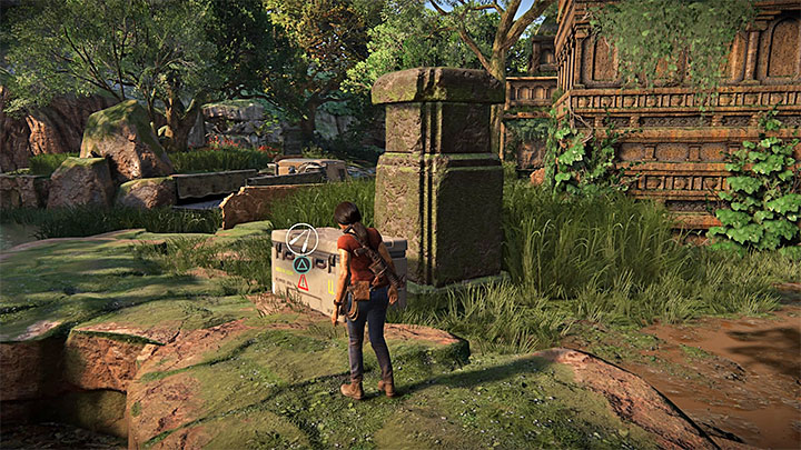 This lockbox is very close, west from the ruins in the north that were mentioned above, the ones in which you found the fifth lockbox - 4 - Photos, optional conversations and lockboxes in Wester Ghats | Secrets - Secrets - Uncharted: The Lost Legacy Game Guide