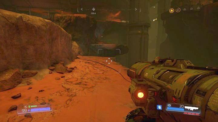 Прежде чем идти туда, прыгните на этаж ниже, а затем поверните налево - Argent Facility |  Секреты - Секреты - Руководство по игре в Doom и прохождение