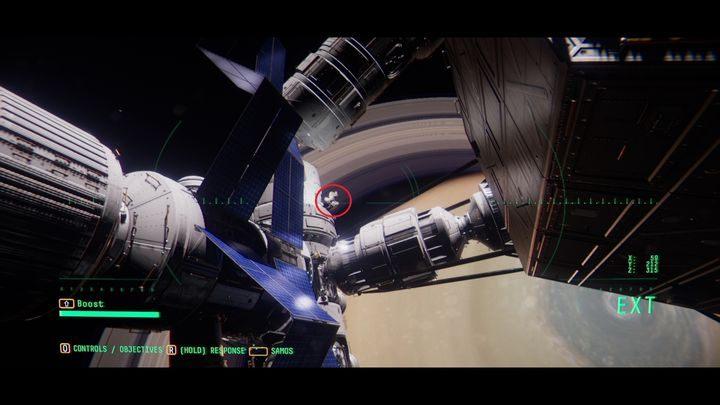 Идите прямо и поверните немного направо - V. Вторая космическая прогулка и передача сообщения    Прохождение Наблюдения - Прохождение - Руководство по Наблюдению