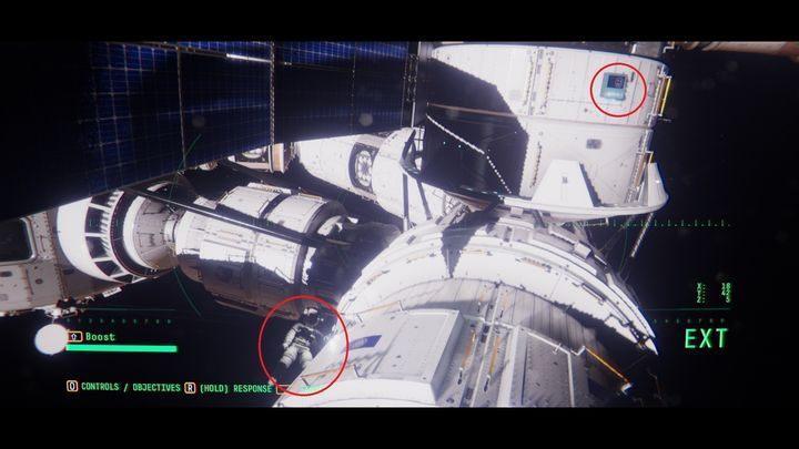 После короткого разговора Эмма попросит вас найти люки на соседнем модуле CN-01 - V. Второй космический обход и передача сообщения    Прохождение Наблюдения - Прохождение - Руководство по Наблюдению