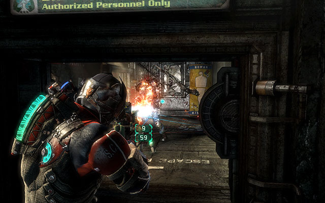 The next corridor, with several lockers, leads to another silo - again turn the catwalk at 180 degrees to be able to move further - Investigate Carvers vision   Co-op missions: Marker Containment - Co-op missions: Marker Containment - Dead Space 3 Game Guide