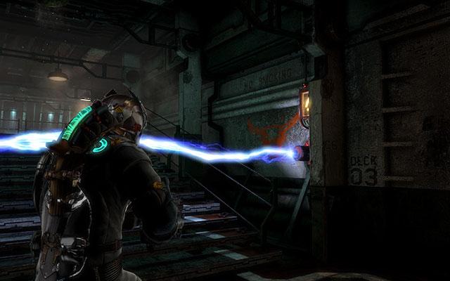 Пройдя через ворота, вы столкнетесь с еще одной электрической блокадой - панель расположена справа, за колонной - Найдите Эдвардса    Побочные миссии: Conning Tower - Побочные миссии: Conning Tower - Dead Space 3 Руководство по игре