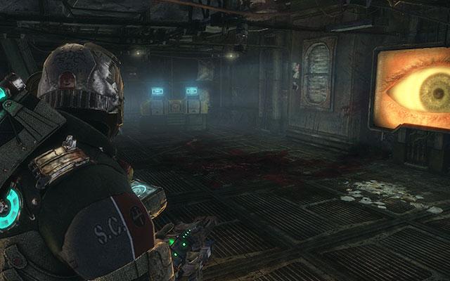 В соседней комнате звучит запись - в углу есть ящик с припасами, где вы ищите. Соберите 163-ю казарму жнецов |  Побочные миссии: Казармы Жнецов - Побочные миссии: Казармы Жнецов - Dead Space 3 Руководство по игре