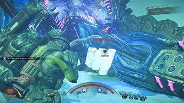Беги к упавшей голове босса - Как победить архитектора Остатка Вельда?     Босс борется    Прохождение - Битвы с боссами - Mass Effect: Руководство по игре Andromeda