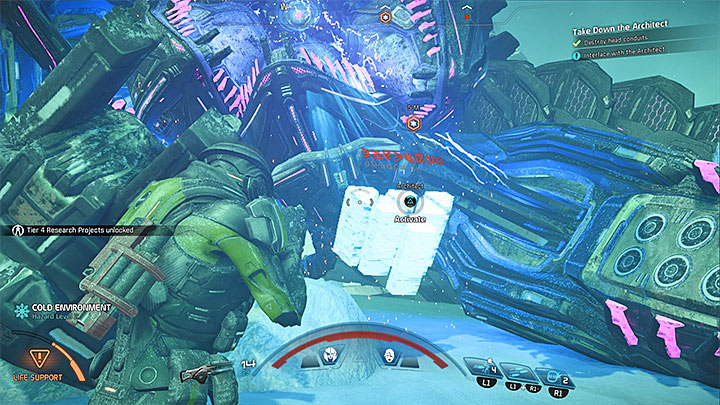 Беги к упавшей голове босса - Как победить архитектора Остатка Вельда?  |  Босс борется |  Прохождение - Битвы с боссами - Mass Effect: Руководство по игре Andromeda