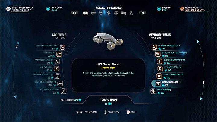 Эту модель можно купить у одного из поставщиков в Nexus: Docking Bay - Список масштабных моделей кабины капитанов в Mass Effect: Andromeda - FAQ - Часто задаваемые вопросы - Mass Effect: Руководство по игре Andromeda
