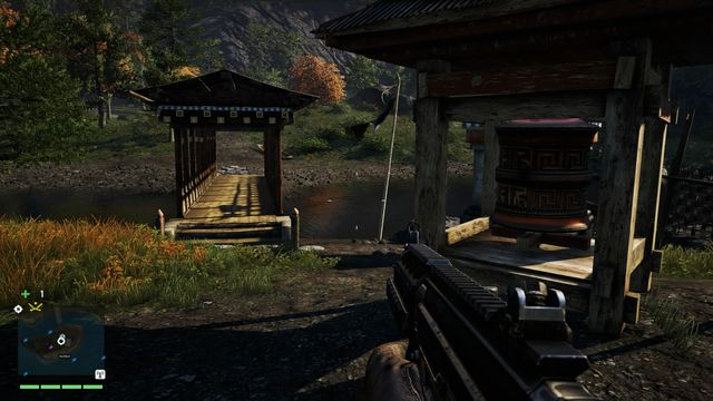 You will find the wheel on an island in the middle of the river - Southern and central Kyrat - Mani Wheels - Far Cry 4 - Game Guide and Walkthrough
