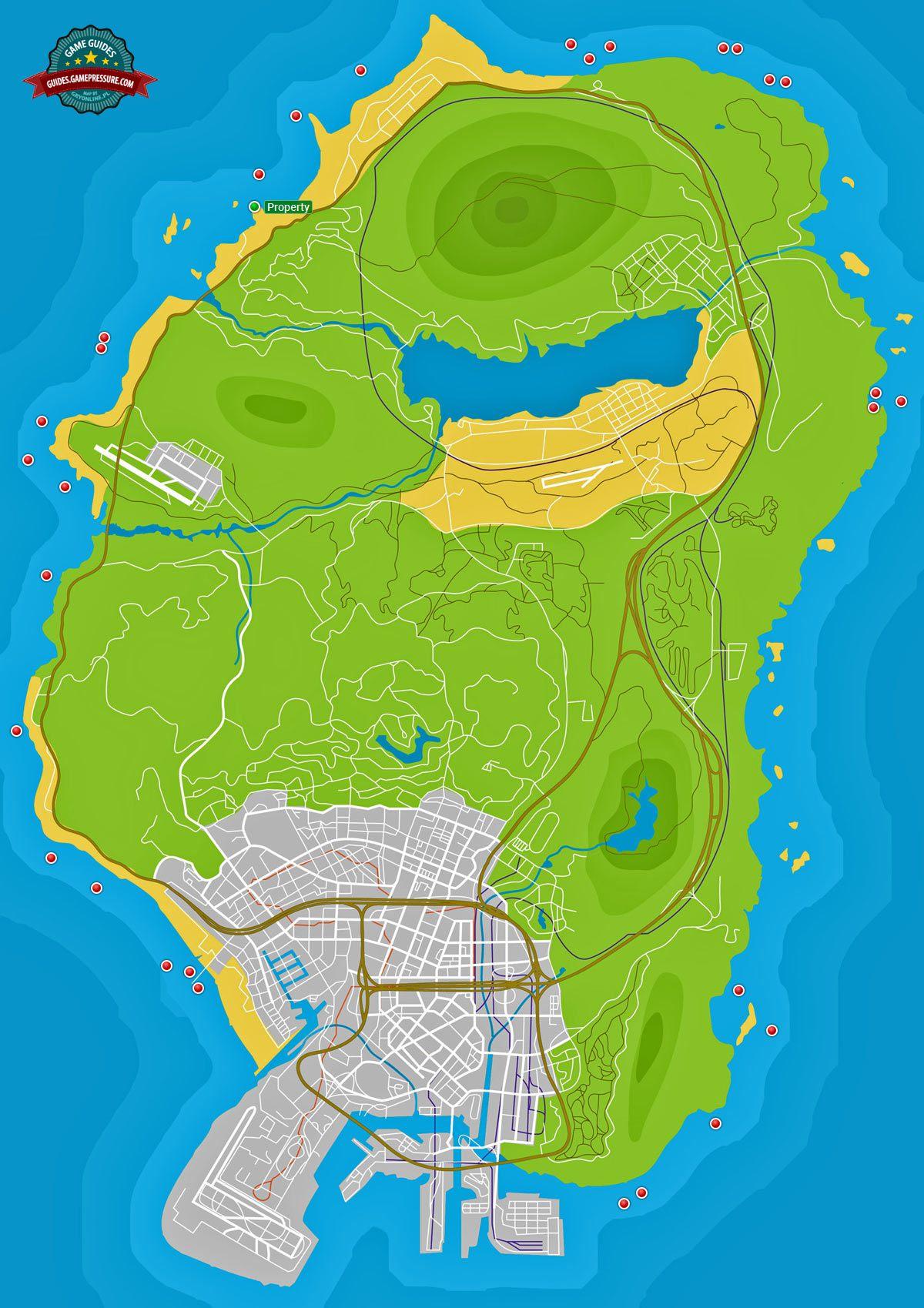 GTA V Map - Radioactive Waste