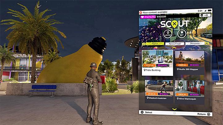 Приложение ScoutX отображает список всех непосещенных местоположений с фотографиями - Watch Dogs 2 Список достижений / трофеев - Основы - Руководство по игре Watch Dogs 2