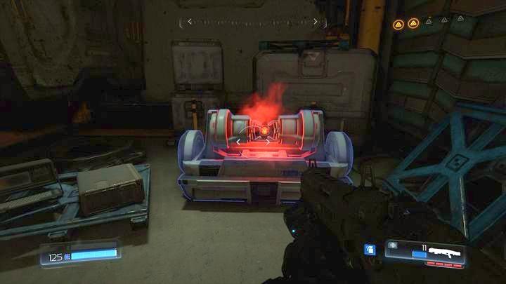 В левом углу находится аргентская ячейка, в которую можно попасть, прогуливаясь по центру здания с правой стороны - Argent Facility |  Секреты - Секреты - Руководство по игре в Doom и прохождение