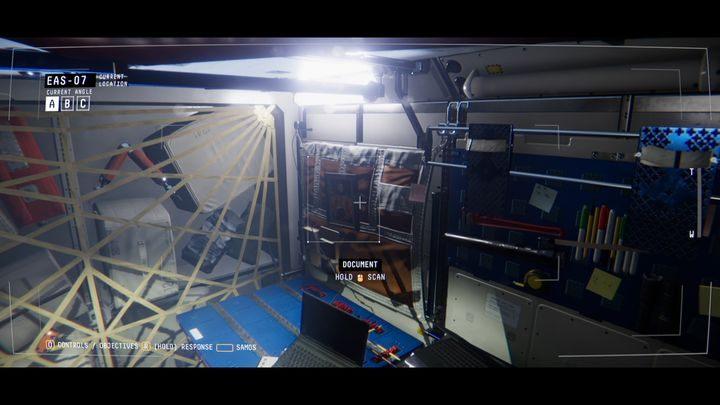 Попав в EAS-07, отсканируйте изображение над столом (GRADUATION PHOTO) и подключитесь к устройству под названием MELFI UNIT - V. Второй пробел и передача сообщения    Прохождение Наблюдения - Прохождение - Руководство по Наблюдению