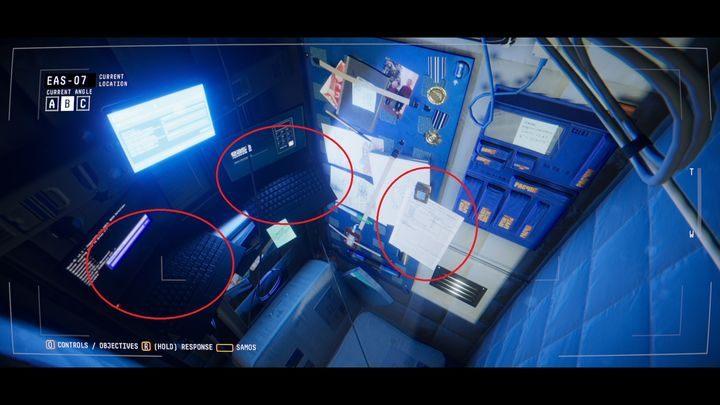 Переключитесь на камеру B, отсканируйте документ на стене (НАБЛЮДЕНИЕ МАРКЕРА) и подключитесь к ноутбуку слева - V. Второй пробел и передача сообщения    Прохождение Наблюдения - Прохождение - Руководство по Наблюдению