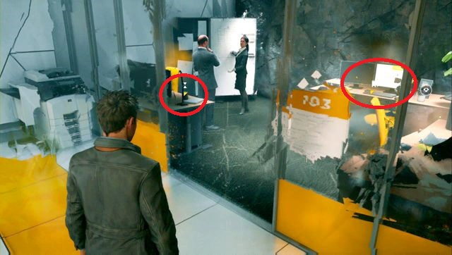 Brenners up on the left side of the desk. - Intel - Secrets - Quantum Break - Game Guide and Walkthrough