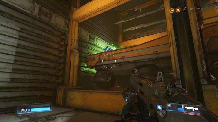 С левой стороны будет комната со вторым фильтром, а чуть дальше будет большой склад - Argent Facility |  Секреты - Секреты - Руководство по игре в Doom и прохождение
