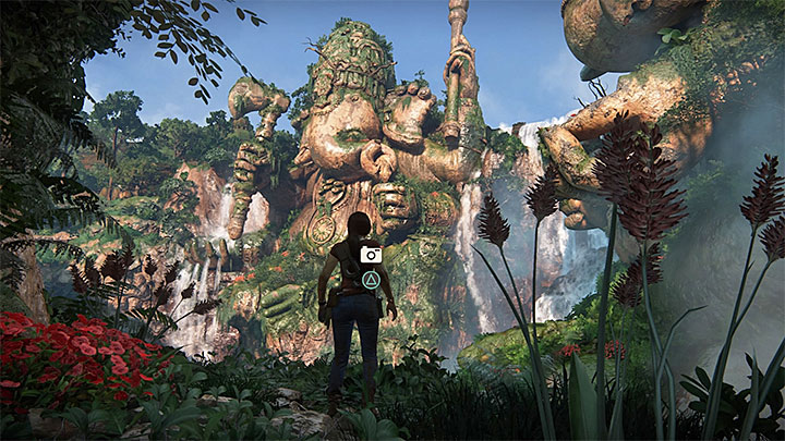 The place where you can take a photo can be accessed shortly after using the grapple hook for the first time in this level - 5 - The Great Battle - All secrets - Secrets - Uncharted: The Lost Legacy Game Guide
