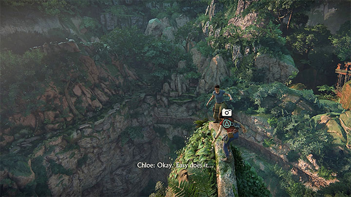 You can take another photo after Chloe and Nadine climb onto one of the gigantic statues (Chloe will lose her balance a bit earlier and she will have to climb up over Nadine) - 5 - The Great Battle - All secrets - Secrets - Uncharted: The Lost Legacy Game Guide