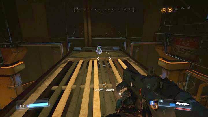 Используйте их, чтобы подняться, а затем на лампы над коридором - Argent Facility |  Секреты - Секреты - Руководство по игре в Doom и прохождение