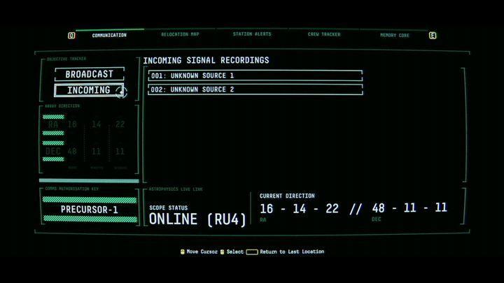 Вернитесь в систему SAMs и откройте вкладку СВЯЗЬ - V. Второй пробел и передача сообщения    Прохождение Наблюдения - Прохождение - Руководство по Наблюдению