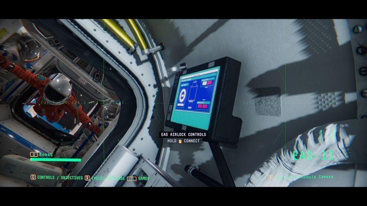 Подключитесь к СФЕРЕ и идите с Эммой к модулю EAS-11 - V. Второй космический обход и передача сообщения    Прохождение Наблюдения - Прохождение - Руководство по Наблюдению