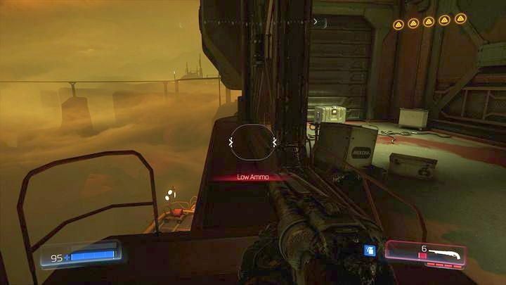 Слева будет узкий край, через который вы сможете добраться до последнего предмета на этом уровне - Argent Facility |  Секреты - Секреты - Руководство по игре в Doom и прохождение