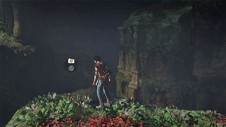 This new photo can be taken right after sliding down the ropes into a giant cave with new Parashurama and Ganesha monuments - 5 - The Great Battle - All secrets - Secrets - Uncharted: The Lost Legacy Game Guide