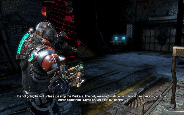 Finally youll get to the location with a supply crate - Investigate Carvers vision   Co-op missions: Marker Containment - Co-op missions: Marker Containment - Dead Space 3 Game Guide