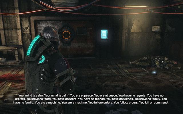 На полу, возле выхода, вы найдете Ключ офицера жнеца, который позволит вам открыть дверь - Уничтожьте 163-ю казарму Жнеца |  Побочные миссии: Казармы Жнецов - Побочные миссии: Казармы Жнецов - Dead Space 3 Руководство по игре