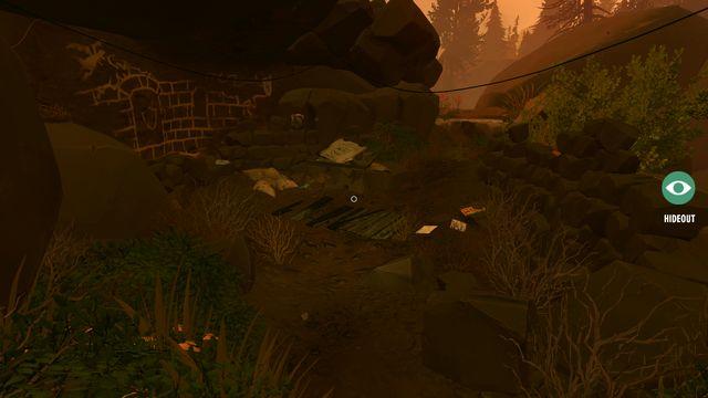 После того, как вы покидаете пещеру, вы попадаете в укрытие Брайана Годвина - Заметки - Коллекционирование - Огненные часы - Руководство по игре и прохождение