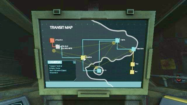 All you have to do now is to select Lambda Station from the map and relax in your seat. - Shuttle station | Riddles and puzzles of SOMA Game - Riddles and puzzles - SOMA Guide
