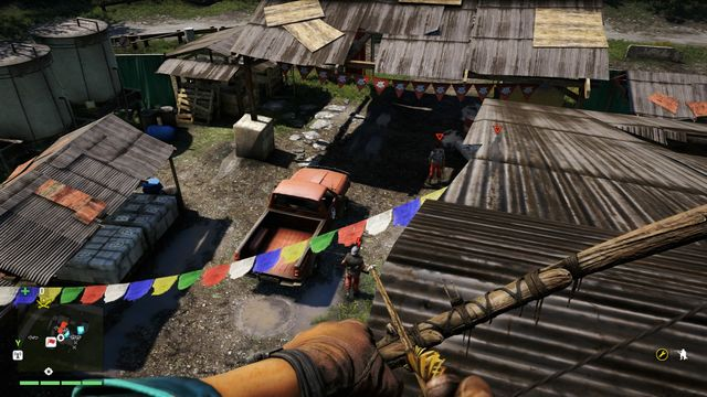 Eliminating the sniper will allow you to kill enemies in any order. - Rochan Brick Co. Storage - Outposts - One alarm - Far Cry 4 - Game Guide and Walkthrough
