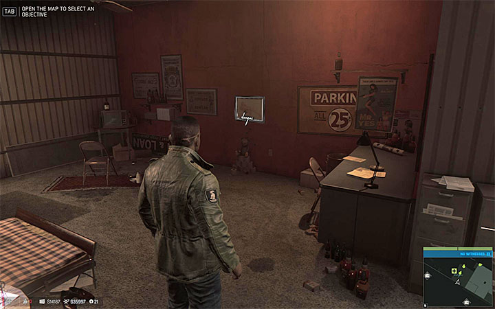 Examine the office in the large building in the scrap yard - Vargas paintings   Secrets - Secrets - Mafia III Game Guide