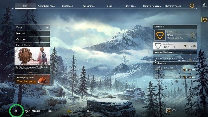 Open the Settings - the icon is marked in the picture above - How to change Ring of Elysium language? - FAQ - Ring of Elysium Guide and Tips