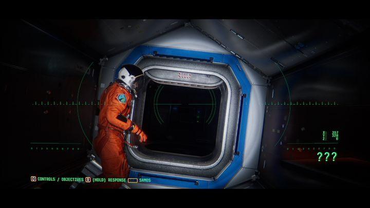Найдите люк с именем LINK B (близко к шлему, дрейфующему в космосе) - VI.  Вторая станция    Прохождение Наблюдения - Прохождение - Руководство по Наблюдению