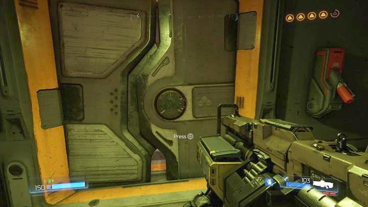 Соберите третий журнал данных и выйдите в большую комнату, в которой находилось гнездо Гора - Argent Facility |  Секреты - Секреты - Руководство по игре в Doom и прохождение