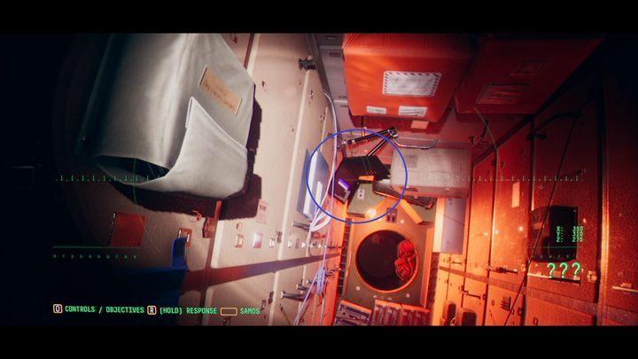 В следующем коридоре вы найдете компьютер с сообщением от Мэй (MM-M-STORM ON SATURN) - VI.  Вторая станция    Прохождение Наблюдения - Прохождение - Руководство по Наблюдению