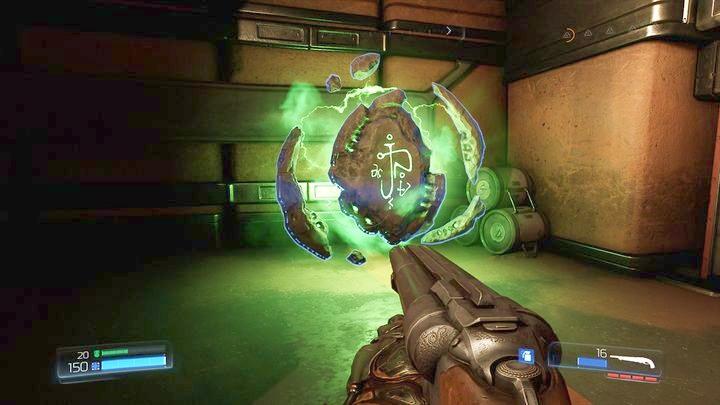 Когда вы встанете, идите до конца налево, и они прыгнут в комнату слева, где вас ждет руна - Argent Energy Tower |  Секреты - Секреты - Руководство по игре в Doom и прохождение