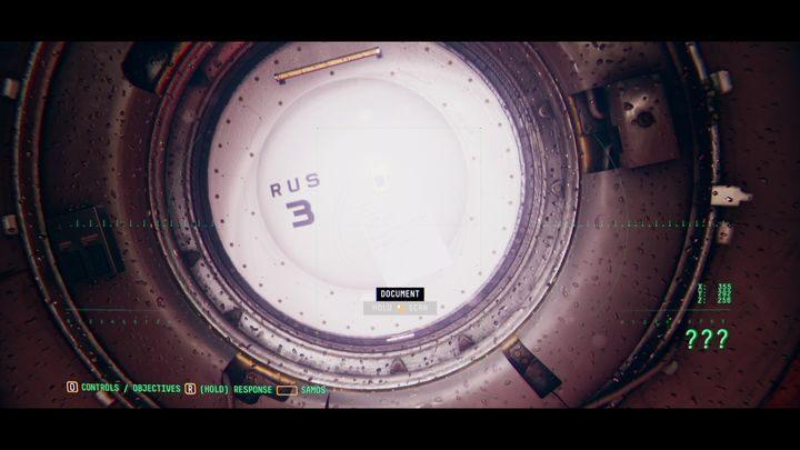 Слева от компьютера в люке RUS 3 вы найдете документ для сканирования (ЖУРНАЛ ДАННЫХ TORU) - VI.  Вторая станция    Прохождение Наблюдения - Прохождение - Руководство по Наблюдению